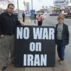 OCCPR's Legal Director, James M. Branum, and its Executive Director, Rena Guay, join protest against war with Iran on 2/2/12